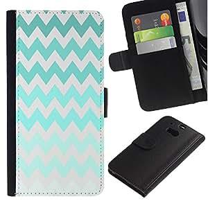 A-type (Iridescent Green Colorful Gray) Colorida Impresión Funda Cuero Monedero Caja Bolsa Cubierta Caja Piel Card Slots Para HTC One M8