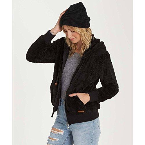 Billabong Women's Cozy Down Hooded Zip up, Black, XS by Billabong (Image #1)