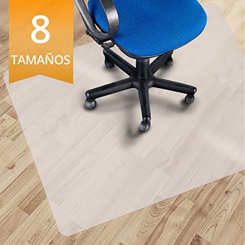 OfficeMarshal Alfombrilla Protectora - Estera para Silla de Oficina | Protector Suelo Semi-Transparente | Polipropileno | Varios tamanos (90x120 cm)