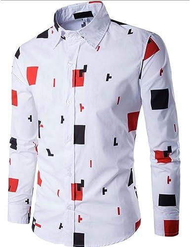 Hombre Camisas De Camisa para Larga Chic Manga Friends De Manga Larga Informal para s Camisa De Corte Slim para Negocios Blusa Estampada Top Traje De Negocios Camisa De Manga Larga para: