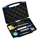 Holife Soldering Iron Kit, 60W 110V Adjustable Temperature Controlled Welding Tool with 5pcs Interchangeable Iron Tips, Solder Sucker, Soldering Iron Stand, Solder Wire, Tweezer for Repairing Work