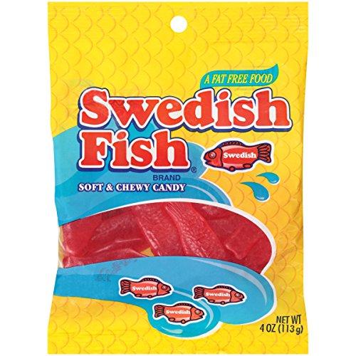 Swedish Fish Red Peg Bag, 4 Ounce