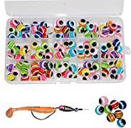 120pcs-300pcs Fish Eye Beads Fishing Line Beads Assorted Mixed Color Fishing Beads 6mm/8mm/10mm/12mm