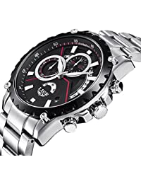 2018 New LIGE Waterproof Quartz Men's LuxuryBusiness Watch (Black)