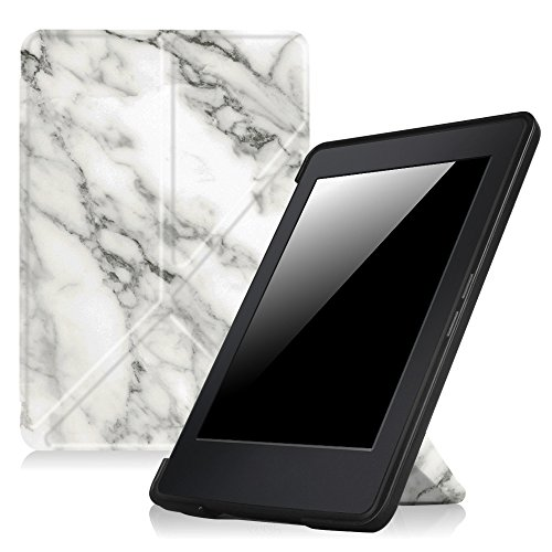 Fintie Origami Case for Kindle Paperwhite - Fits All Paperwhite Generations Prior to 2018 (Not Fit All-New Paperwhite 10th Gen), Marble