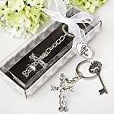 Delicate Intertwined Metal Cross Key Chain (6)