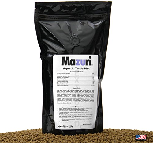 Mazuri Aquatic Turtle Diet, Extruded 3.9mm Floating Pellet Is Designed For All Life Stages Of Freshwater Turtles. 1 lb. (16oz)