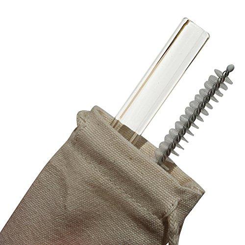 Reusable Straws 6 Straight Glass Drinking Straws
