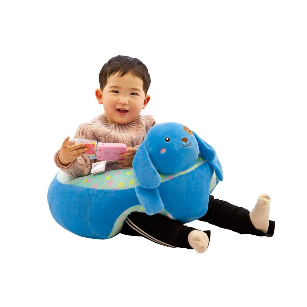 Baby Learning Sitting Seat Infant Seat Plush Stuffed Animal Pillow Protector Pig Cushion Sofa for Kids 3-16 Months