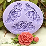 JADE Onlines 6.6cm Mini Flower Silicone Fondant Sugar Pudding DIY Cake Cookie Mini Craft Mold