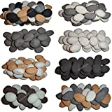 30 Gas Fire Replacement Ceramic Pebbles Replacements/Bio Fuels/Ceramic/Boxed (BEIGE WHITE GREY BLACK BROWN DUCK EGG BLUE 6 COLOUR MIXED SELECTION