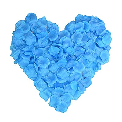 Monkeybrother 1000pcs Silk Rose Artificial Flower Petals for Wedding Table Confetti Bridal Party Flower Girl Decoration