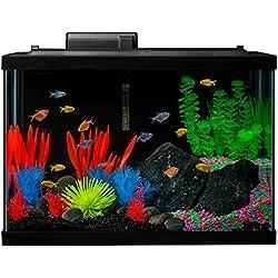 GloFish 20 Gallon Aquarium Fish Tank Kits, Includes LED Lighting and Décor