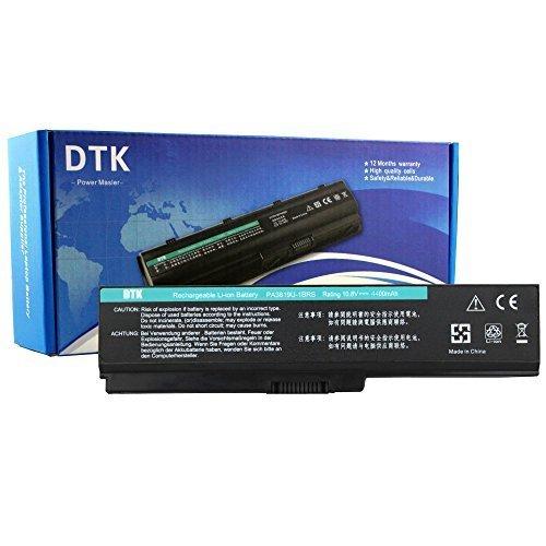 Dtk® Ultra Hochleistung Notebook Laptop Batterie Li-ion Akku für Toshiba PA3817U-1BRS PA3819U-1BRS Satellite C600 C655 C675 A660 A665 L600 L630 L635 L640 L645 L650 L655 L655d L670 L675 L700 L730 L735 L740 L745 L750 L750d L770 L775 L775d M640 M645 P740 P745 P750 P770 P775 Series - 12 Months Warranty [Li-ion 6-cell 10.8V 4400mah/48wh] Notebook battery