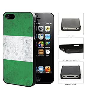 Nigerian Flag Grunge Surface Hard Plastic Snap On Cell Phone Case Apple iPhone 4 4s