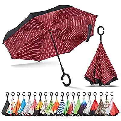 Sharpty Inverted Umbrella, Umbrella Windproof, Reverse Umbrella, Umbrellas for Women with UV Protection, Upside Down Umbrella with C-Shaped Handle