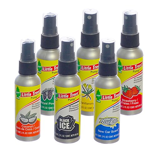 Little Trees 2 Oz. Pump Spray Car, Home and Office Air Freshener, Pack with 6 Different Scents