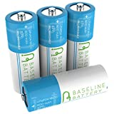 (US) 4 Baseline Battery 800 mAh IFR 18500 3.2v LiFePO4 Lithium Phosphate Rechargeable Batteries Solar Garden Light