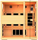 JNH Lifestyles NE4HB1 ENSI Collection 4 Person NO EMF Infrared Sauna Limited Lifetime Warranty For Sale