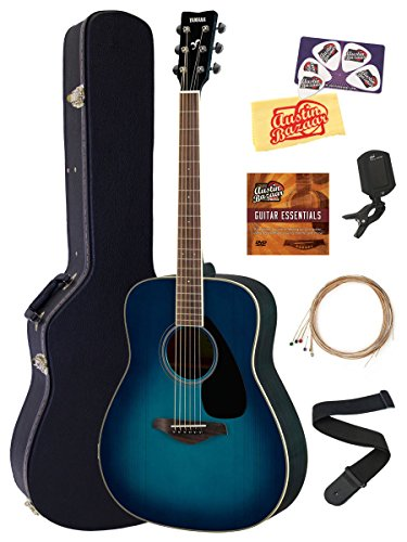 Yamaha FG820 Solid Top Folk Acoustic Guitar - Sunset Blue Bu