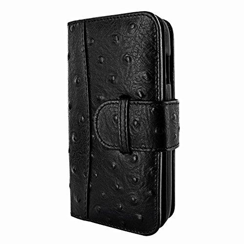 Piel Frama 717 Black Ostrich WalletMagnum Leather Case for Apple iPhone 6 Plus / 6S Plus