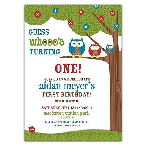 Amazon Customized Modern And Simple Forest Owl Tree Birthday