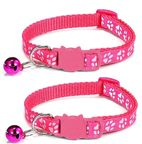 ZACAL Cat Collar and Bell With Safety Quick Release Break Away Buckle, Suitable and Adjustable To Fit All Domestic Cats & Larger Kittens, Pack Of (Larger Cats)