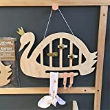 Swan Hanging Storage Rack Organizer Jewelry Scarf Hairclip Stand Holder Photo Props Home Kids Room Decoration by Xiaolanwelc