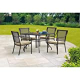 Cheap Mainstays Bellingham Outdoor 5-Piece Patio Furniture Dining Set, Seats 4