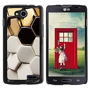 For LG OPTIMUS L90 / D415 Case , White Structure Hexagon Bees - Diseño Patrón Teléfono Caso Cubierta Case Bumper Duro Protección Case Cover Funda