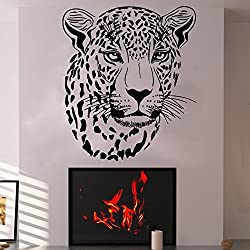 Cheetah Wall Decal Wild Animal Sticker Vinyl Bedroom Nursery Home Leopard Gepard Jungle African Ethnic Decor Art Mural SM129