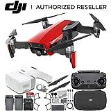 DJI Mavic Air Drone Quadcopter (Flame Red) + DJI Goggles FPV Headset VR FPV POV Experience Essential Bundle
