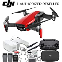 DJI Mavic Air Drone Quadcopter (Flame Red) + DJI Goggles FPV Headset VR FPV POV Experience Essential Bundle