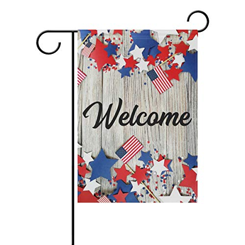 AGONA American Independence Patriotic Garden Flag 12 x 18, Outdoor Vertical Double Sided Yard Flags Seasonal Holiday Decorative House Flag for Garden Decor Party Housewarming Gift Hostess Gift from AGONA