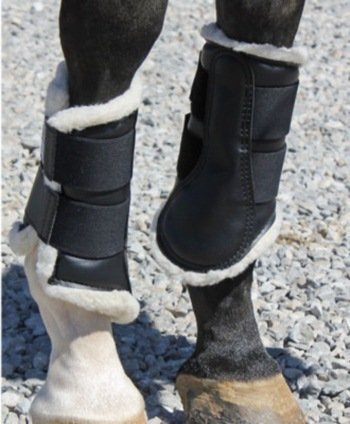 DSB Dressage Sport Boots (Black/White, Medium) by Dressage Sport Boots