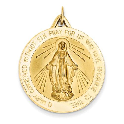 Icecarats Créatrice De Bijoux 14K Pendentif Médaille Miraculeuse