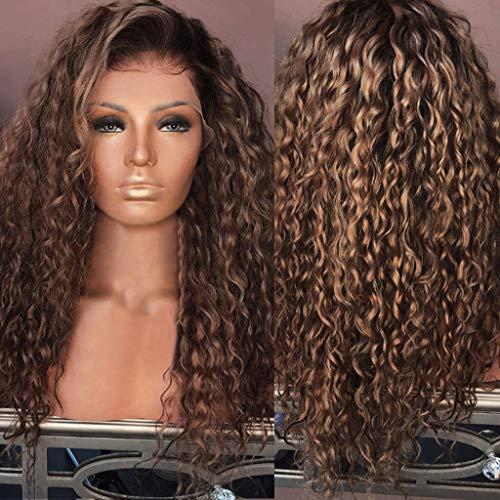 (Hair Glueless Wig Kinky Curly Hair Wig Natural Virgin Brazilian Lace None Human Hair Wigs Brown Women Wig)