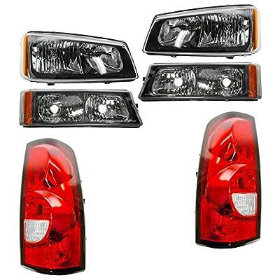 Headlight Parking Corner Light & Tail Light Kit Set of 6 for Chevy Pickup Truck