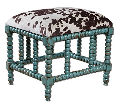 Uttermost 23605 Chahna Bench, Small, Blue from Uttermost