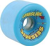 Seismic Landslide 75mm 83a Blue/Yellow Skateboard Wheels (Set Of 4)