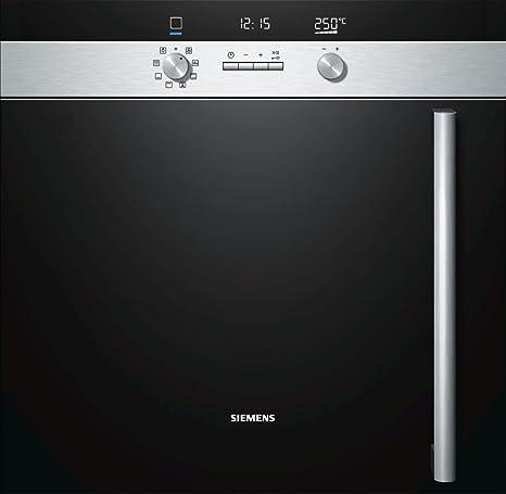 Siemens forno a incasso pirolitico HB65LR555F finitura nera da 60 cm ...