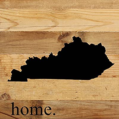 """Second Nature By Hand 10 x 10"""" Natural Reclaimed Kentucky Wood Sign, Small"""