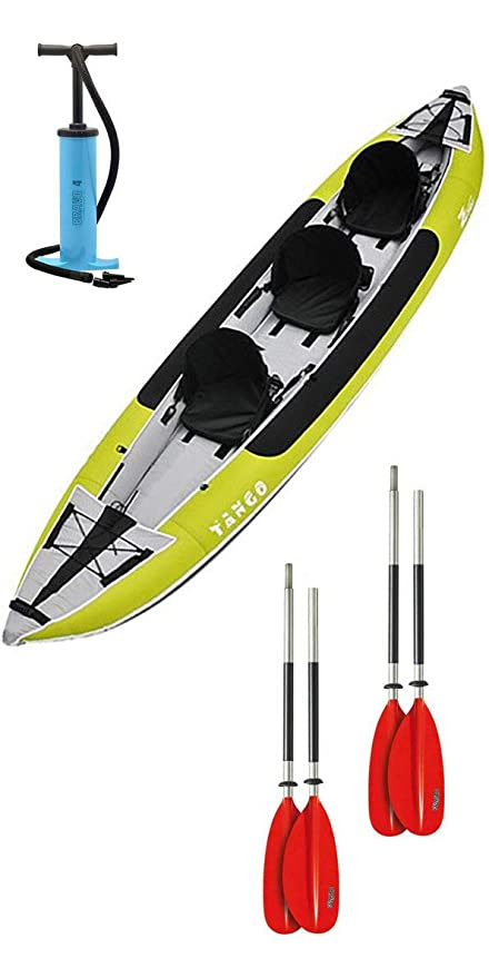 Z Pro Tango 3 Man Kayak Inflable Verde y 2 Paddles y Bomba ...