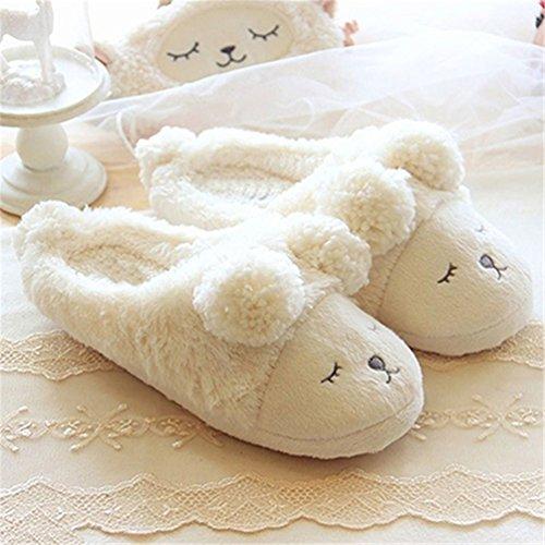 cálidas para de invierno cálidas y mujer Blanco Zapatillas Floralby ta0wqOC