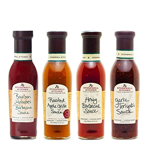 Stonewall Kitchen Grille Sauce Collection (4 Piece Sweet Grille Sauces) made in New England