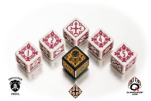 Privateer Press WARMACHINE Faction Dice - Protectorate of Menoth - Faction Dice