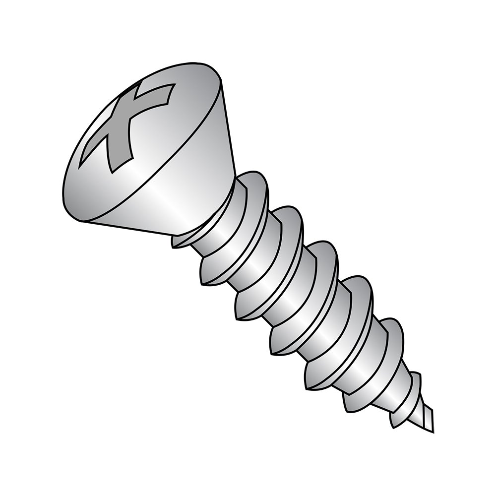18-8 Stainless Steel Sheet Metal Screw Phillips Drive Pack of 50 #8-18 Thread Size Plain Finish 1-1//2 Length Small Parts 0824ABPO188 82 degrees Oval Head Type AB 1-1//2 Length Pack of 50