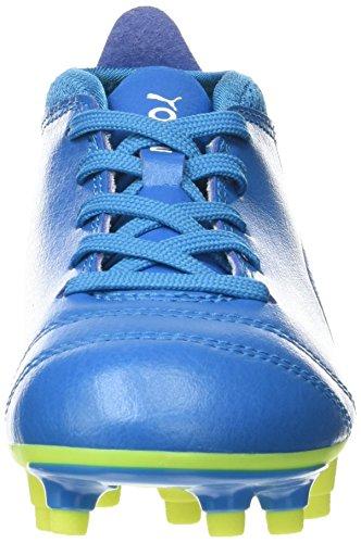 Puma One 17.4 FG Jr, Zapatillas de Fútbol Unisex Niños Azul (Atomic Blue- White-safety Yellow)