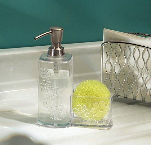 MDesign Blooms Kitchen Sink Soap Dispenser Pump And Sponge