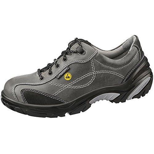 Abeba ESD-S-Schuh Crawler Halbschuh grau, Glattleder, CE, EN ISO 20345:2011, S2, Gr. 47